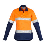 Syzmik Womens Hi Vis Spliced Industrial Shirt - Hoop Taped